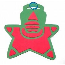 Sello Navidad Papa Noel estrella
