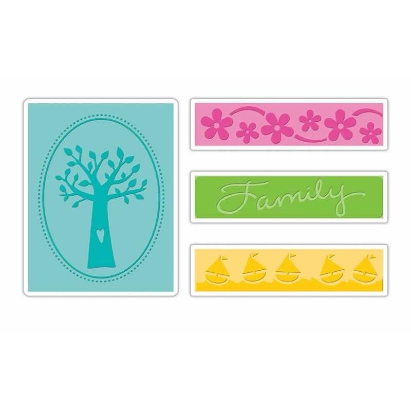 Carpeta repujado para Big Shot Familia y árbol