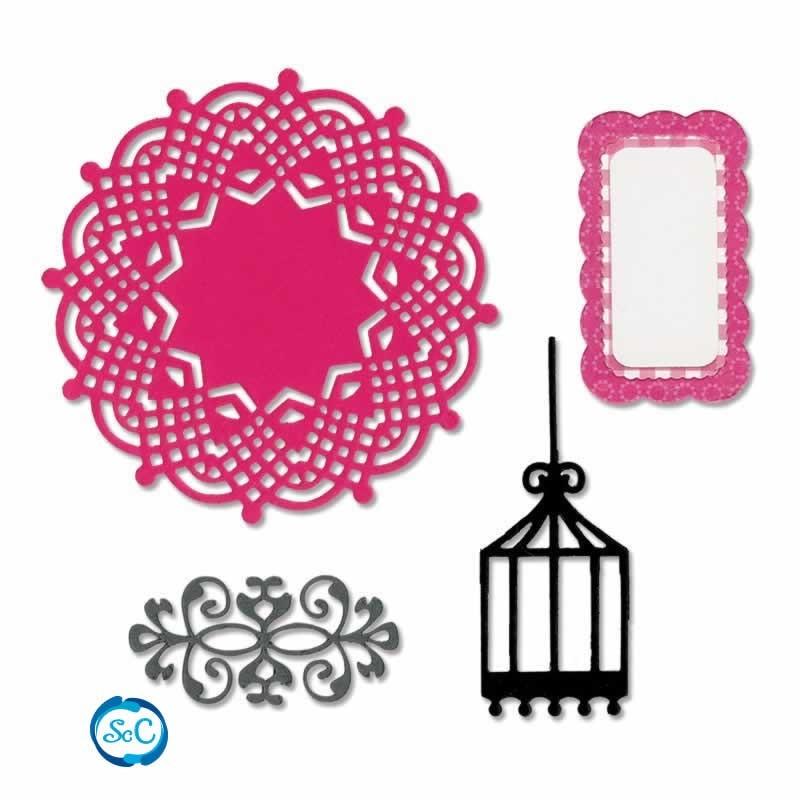 Troquel Basic shapes Ornamentos con jaula