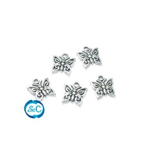 Charm Mariposas 5 unidades color plata