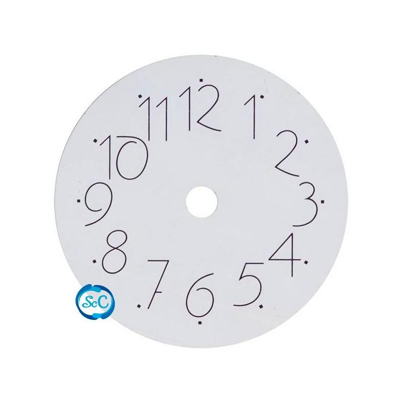 Esfera de reloj blanca moderna