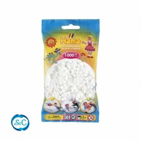 Hama Beads 1000 piezas Midi blancas