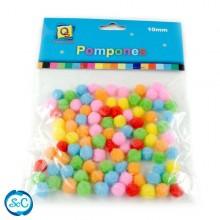 Bolas o pompones 1 cm colores surtidos