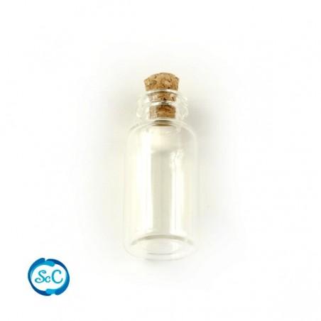 Mini botella tapón de corcho 4 cm de alto x 1,8 cm 3ml