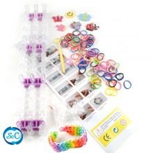 Kit gomas de colores Loom bands 2