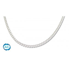 Cadena aluminio color plata, 1 metro