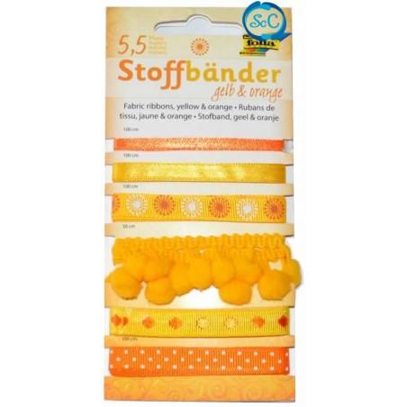 Surtido 6 cintas scrap Naranjas y amarillos