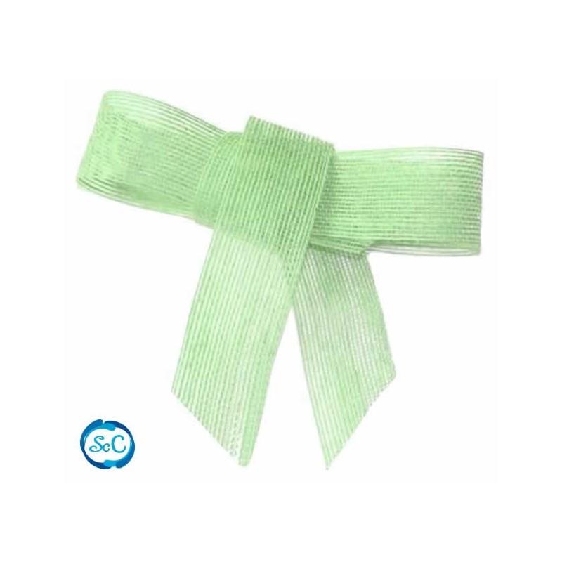 Cinta de yute 4 cm / 1 metro, Verde