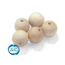 20 unidades de bolas de madera de 15 mm