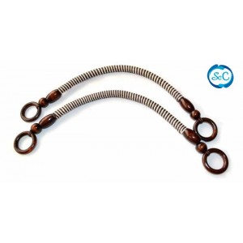 Asas para bolso cordón enrollado anillas marrones