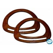Asas de bolso de madera color marron