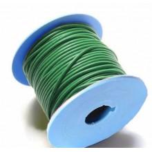 Rollo de cordon de cuero, 20 mts. 2 mm verde