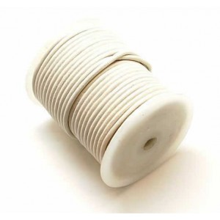 Rollo de cordon de cuero, 20 mts. 2 mm blanco