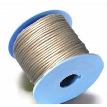 Rollo de cordon de cuero, 20 mts. 2 mm oro