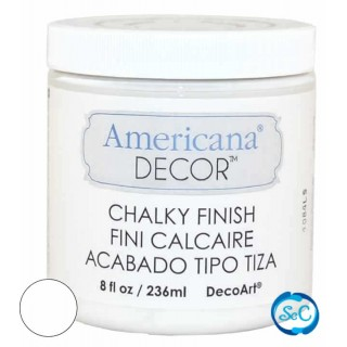 Pintura tiza Chalky Finish Decoart, Blanco 236 ml ADC01