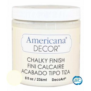 Pintura Chalky Finish Decoart, Crudo Encaje, 236 ml ACD02