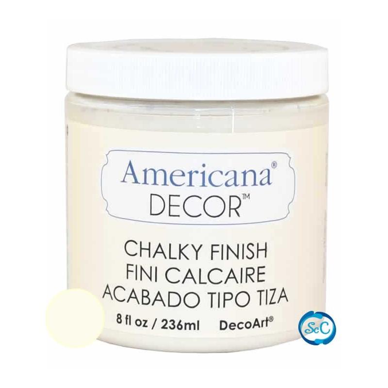 Pintura Chalky Finish Decoart, Crudo Encaje, 236 ml ACD02