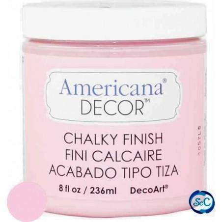 Pintura tiza Chalky Finish Decoart, Rosa Inocencia 236 ml ADC05