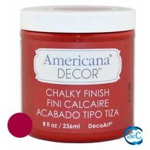 Pintura Chalky Finish Decoart, Rojo Romantico 236 ml ADC06