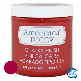 Pintura tiza Chalky Finish Decoart, Rojo Romantico 236 ml ADC06