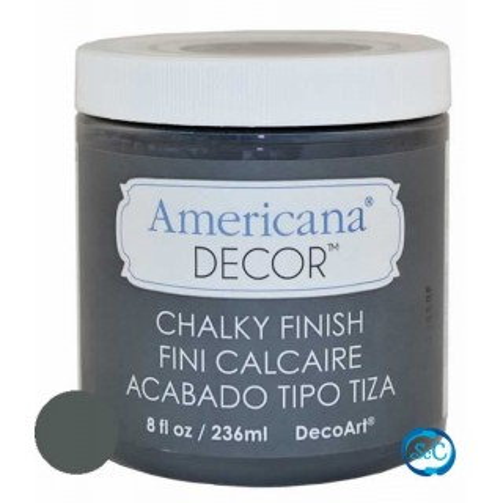 Pintura tiza Chalky Finish Decoart, Gris reliquia 236 ml ADC28