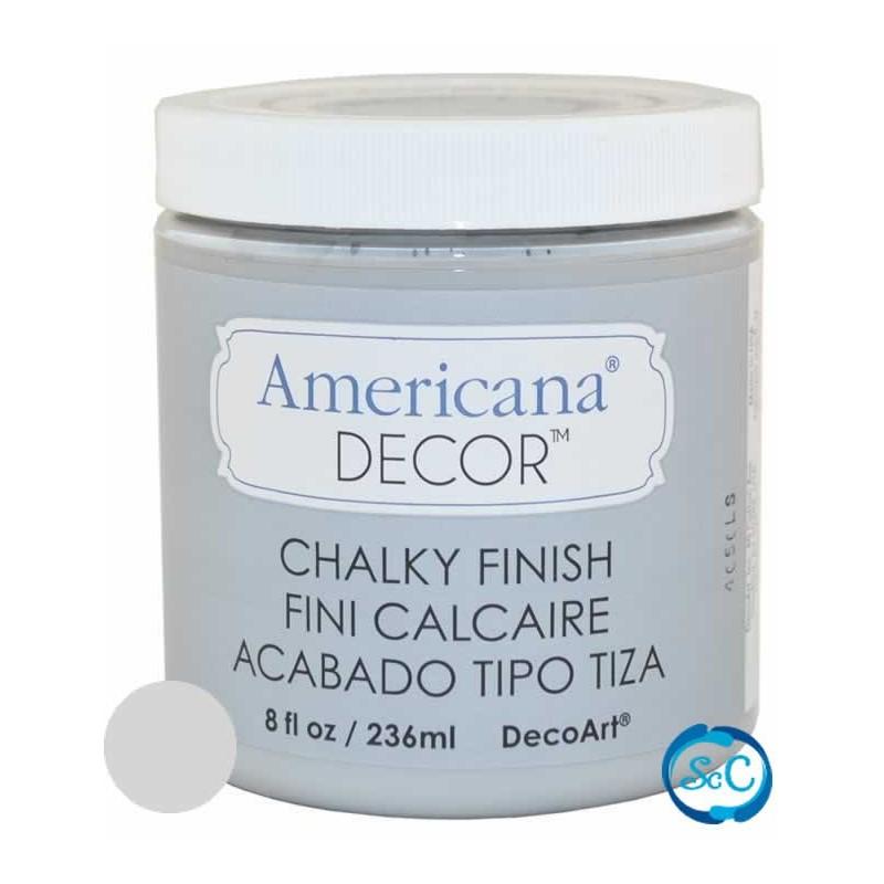 Pintura Chalky Finish Decoart, Gris Antaño 236 ml ADC27