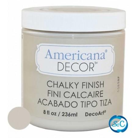 Pintura tiza Chalky Finish Decoart, Gris Primitivo 236 ml ADC26