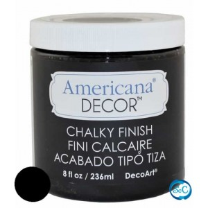 Pintura Chalky Finish Decoart, Carbon 236 ml ADC29