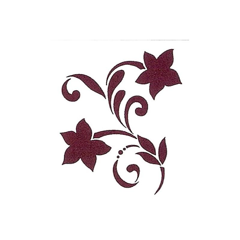 Plantilla para stencil Rama dos flores