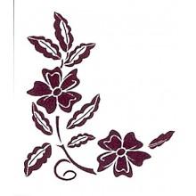Plantilla para stencil Flor y hojas