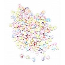 Bolsa de abalorios Caritas de corazon, 8 x 5 mm