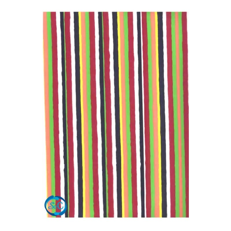 Planchas de goma eva decorada, multicolor rayas verticales G