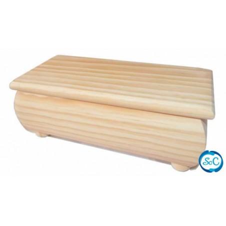 Joyero madera, dos bandejas con musica. 23 x 13 x 8,cm