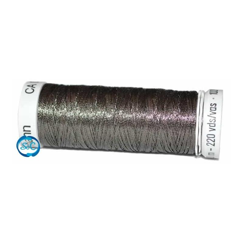 Hilo metalizado bobina 200 metros negro metalizado