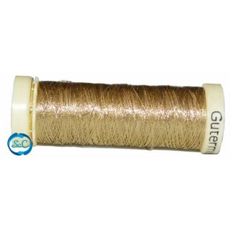 Hilo metalizado bobina 50 metros oro