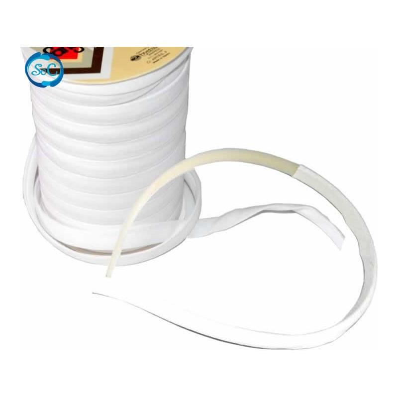 Cinta espagueti marfil 10 mm para forrar diademas, 50 cm