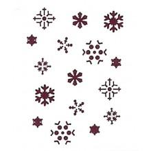 Plantilla para stencil Copos nieve