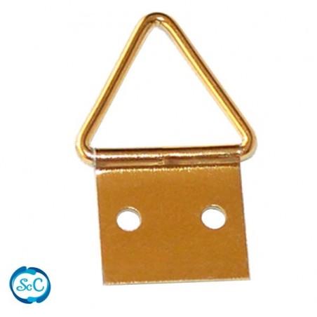 Colgador triangulo dorado, 25 mm