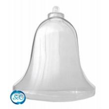 Campana transparente de plastico 10 cm.