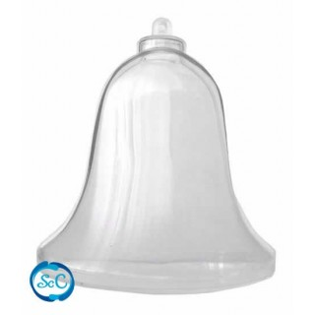 Campana transparente de plastico 16 cm.