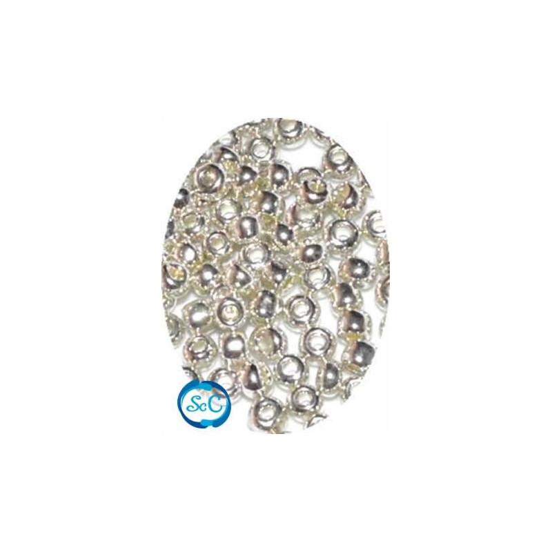 Bolsa rocalla plata, 40 gr
