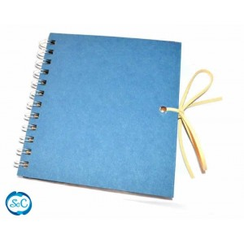 Album con espiral craft desplegable azul