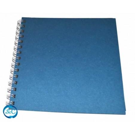 Album espiral craft azul 20 x 20 cm