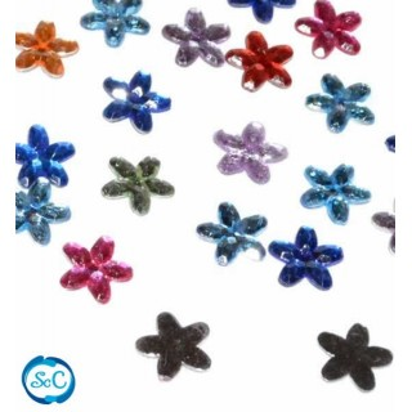 Gemas decorativas flor, 150 unidades