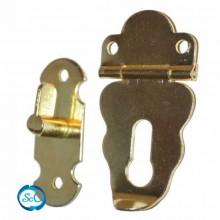 Cierre Violin latonado para cajas, 4,5 cm
