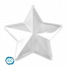 Estrella de plexiglas transparente 16 cm.