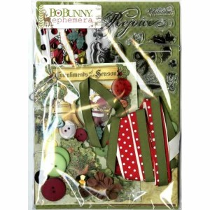 BoBunny Christmas Collage Collection Ephemera Pack