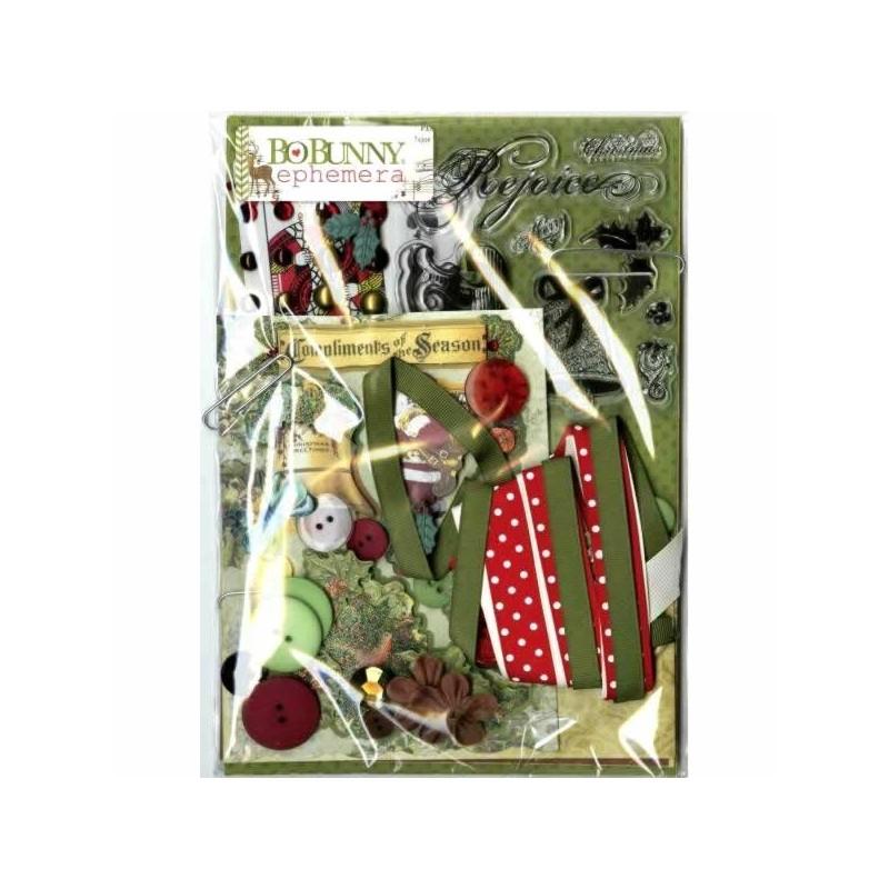 BoBunny Christmas Collage Collection Ephemera Pack