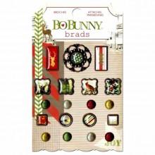BoBunny Christmas Collage Brads