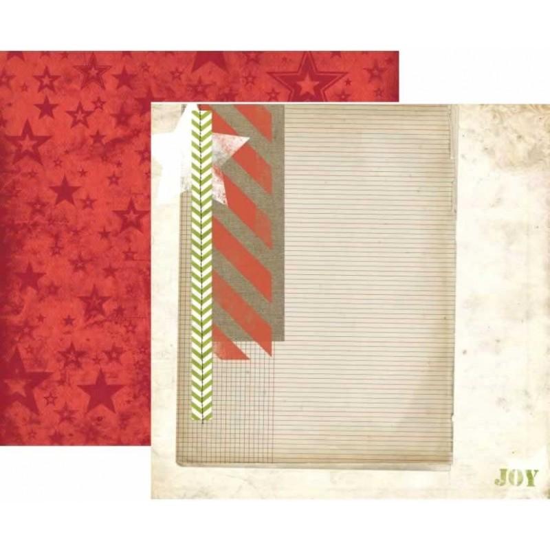 BoBunny Papel Christmas Collage
